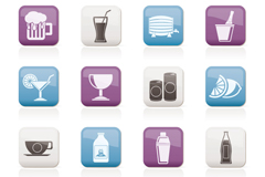 Link to16 drinks sticker icon vector