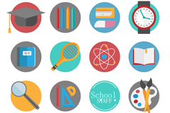 Link to16 elegant campus element icon vector