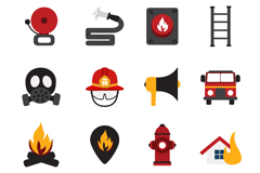 Link to16 elegant fire element icon vector