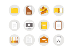16 office element icon vector