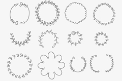 Link to16 painted wreath vector