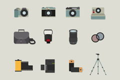 16 photographic element icon vector