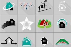Link to16 real estate logo design vector