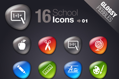Link to16 shiny pebbles campus icon vector