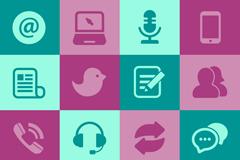 Link to16 social media icon vector