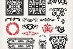 Link to16 vintage patterns and furniture design vector