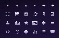 Link to160 tiny icons psd