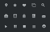 Link to16px glyph icons psd