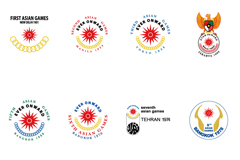 Link to17 asian games logo design vector