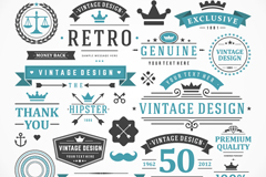 Link to17 vintage product sale tag vector