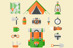 Link to18 camping elements vector