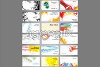 Link to18 current business card template vector
