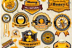 18 delicate honey label vector