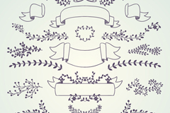 Link to19 branches with ribbon design vector graph