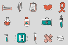 Link to19 cartoon-medical elements icon vector