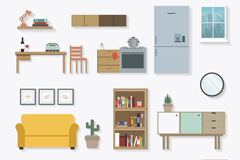 19 fine furniture design vector graph