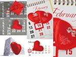 2.14 valentine's calendar psd