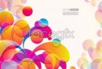 Link to2 background of colorful pattern vector