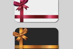 Link to2 beautiful bows card vector
