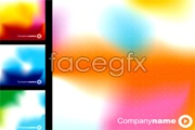 Link to2 beautiful bright background vector