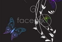 Link to2 beautiful butterfly pattern vector