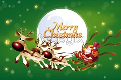 Link tovector card christmas beautiful 2