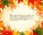 Link to2 beautiful dream maple leaf chinese restaurant background borders vector