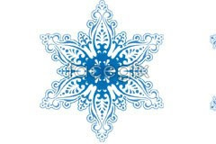 Link to2 beautiful snowflake pattern vector