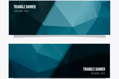 Link to2 blue geometric design banner vector
