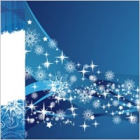 Link to2 blue snowflake background vector