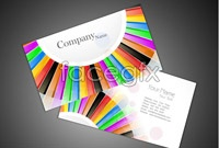 Link to2 bright business card template vector graphic