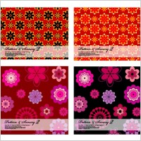 Link to2 bright flowers vector background base map