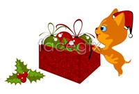 Link to2 card christmas cat vector