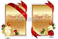 Link to2 christmas card template vector graphic