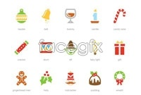 Link to2 christmas icon vector