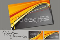 Link to2 city line business card template vector