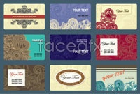 Link to2 classical pattern business card template vector