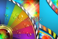Link to2 colorful fantasy background vector