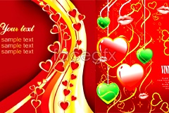 Link to2 cool background of valentine's day heart-shaped vector