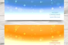 Link to2 creative snowflake banner vector diagrams