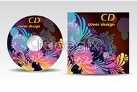 2 current cd disc cover design-vector illustration
