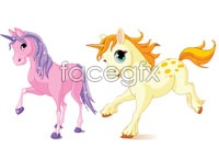 Link to2 cute pony cartoon vector map