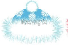 Link to2 cute snowflake plush hat vector