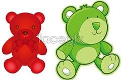 Link to2 cute teddy bear cartoon vector