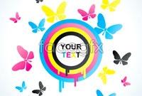 Link to2 dancing butterflies vector