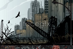 Link to2 decadent urban architecture vector