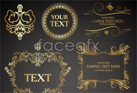 Link to2 european patterns of golden frame vector