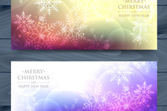 Link to2 fantasy christmas snowflake banner vector diagrams