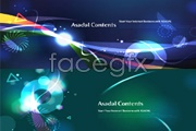 Link to2 fantasy glare pattern background vector