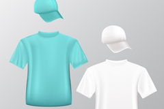Link to2 fashion t-shirt and hat vector